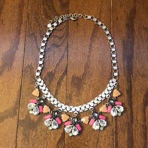 Stella and dot pink and silver rhinestone necklace